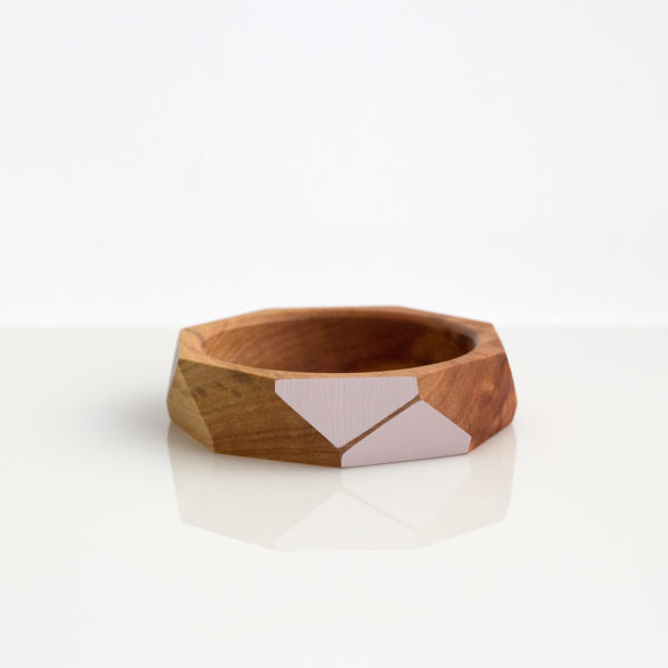 Faceted bangle medium blush