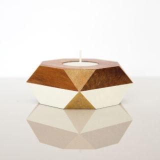 tealight holder gold corners