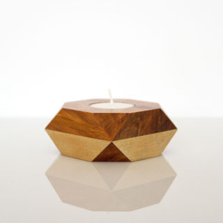 Tealight with gold sides