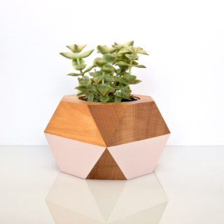 Wooden pot — blush