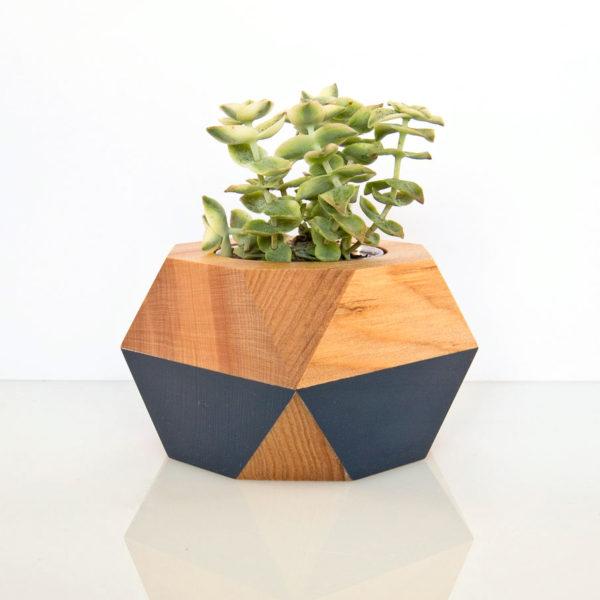 Succulent Pot — dark blue