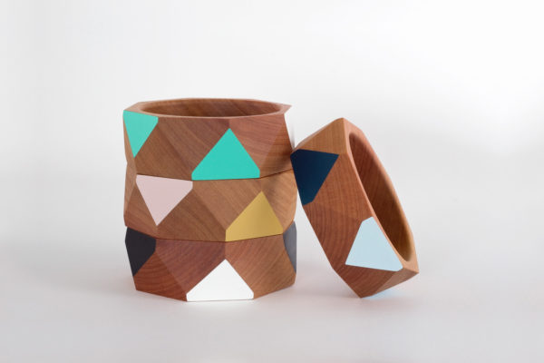 Wide bangle wooden