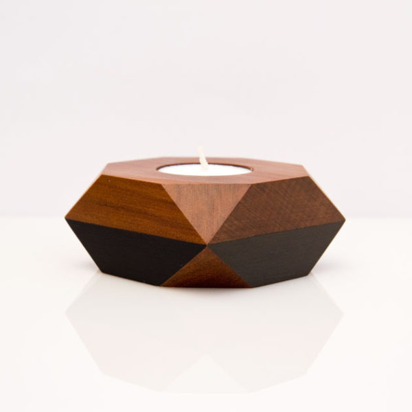 black sides tealight holder