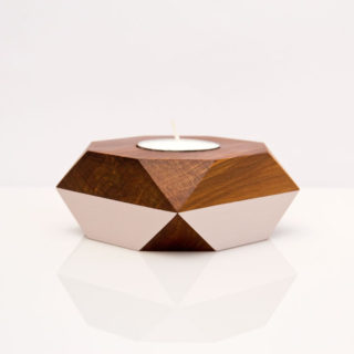 blush sides tealight holder