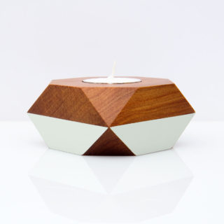 pale green tealight holder