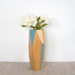 blue and gold large vase