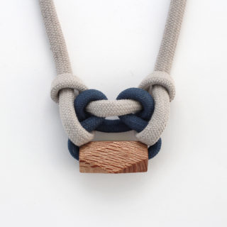 Knotted Necklace Midnight Blue