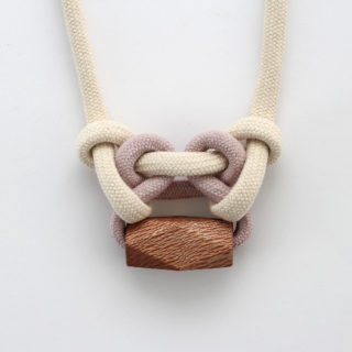 Knotted Necklace Pale Mauve