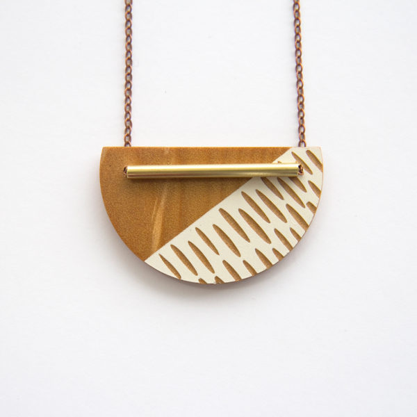 Off white, Crescent Necklace