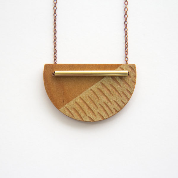 Gold, Crescent Necklace