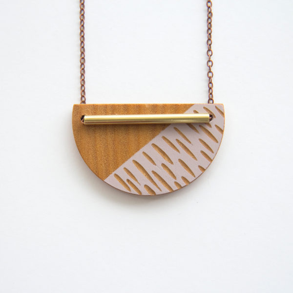 Blush, Crescent Necklace