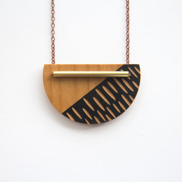 Black, Crescent Necklace