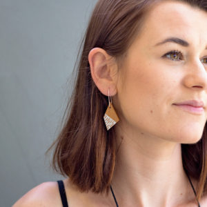Dots and Dashes Wooden Earrings