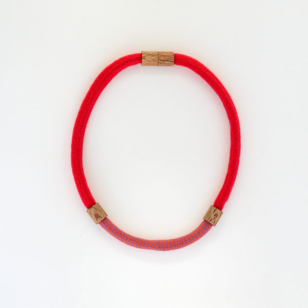 Rewarewa and Rope Necklace Short Red