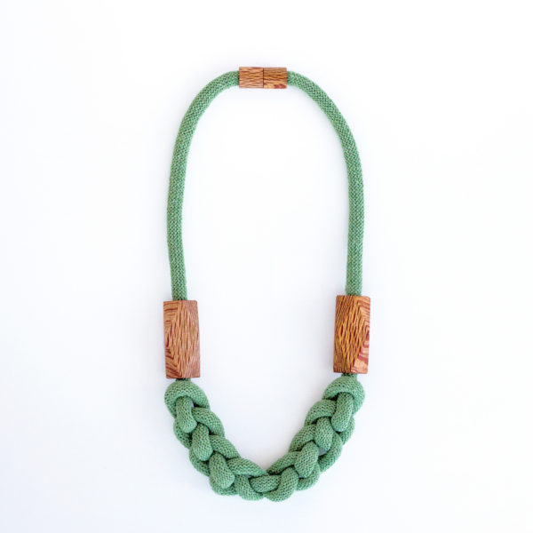 Knitted Necklace Eucalyptus