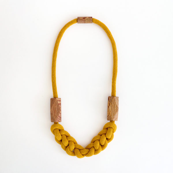 Knitted Necklace Mustard