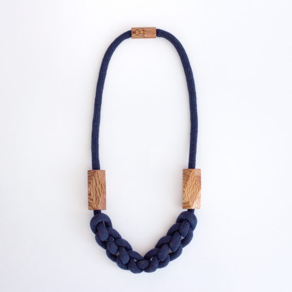 Knitted Necklace Navy