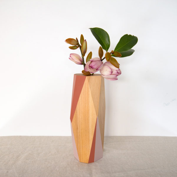 terracotta and blush vase large