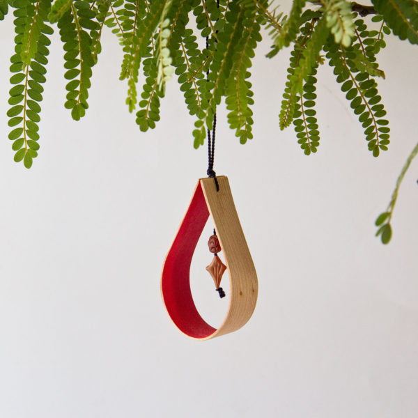 Steam bent Christmas decoration